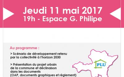 Réunion publique PLU – Jeudi 11 mai 2017