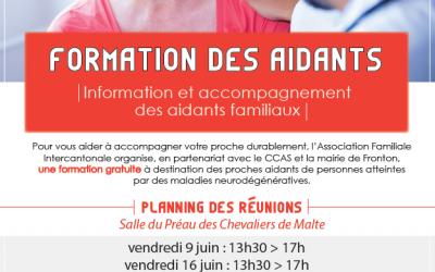 FORMATION DES AIDANTS – Juin 2017
