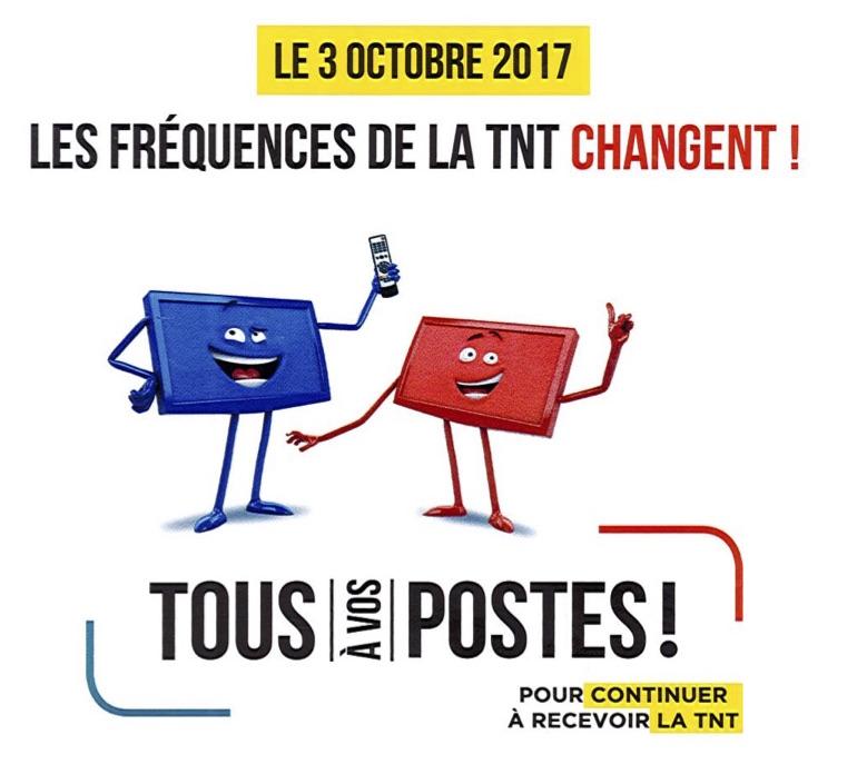 Changement de Fréquences de la TNT # 3 octobre 2017