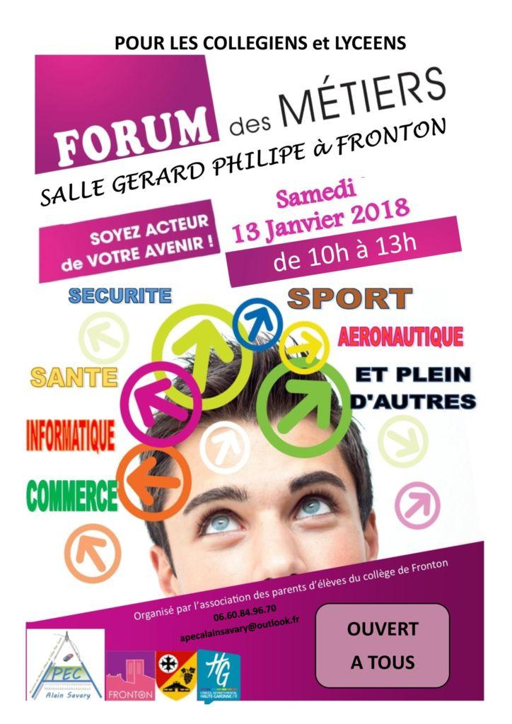 thumbnail of Affiche forum métiers APEC 2018