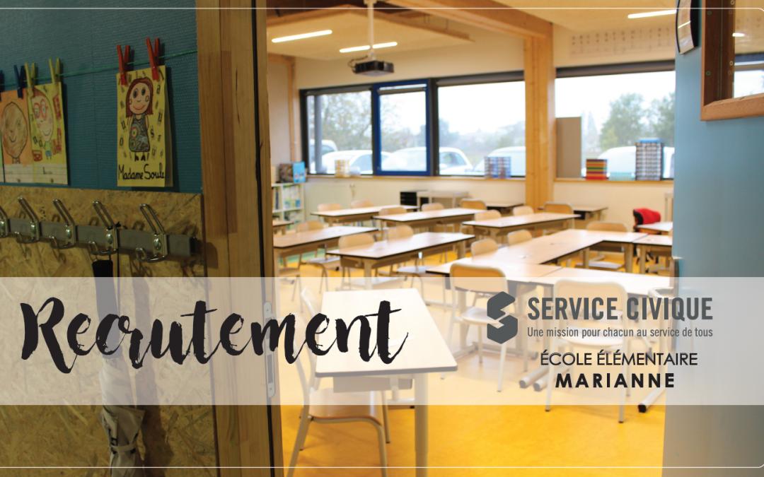 Recrutement Service Civique # École élémentaire Marianne
