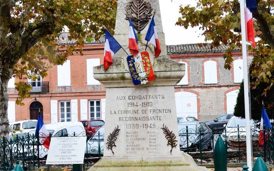 Fronton commémore l'Armistice du 11 novembre 1918