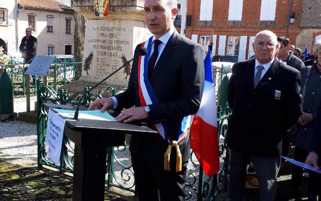 Commémoration du cessez le feu de la guerre d'Algérie