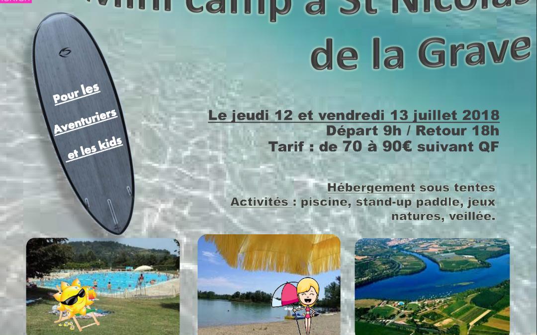 Mini camp à St Nicolas de la Grave
