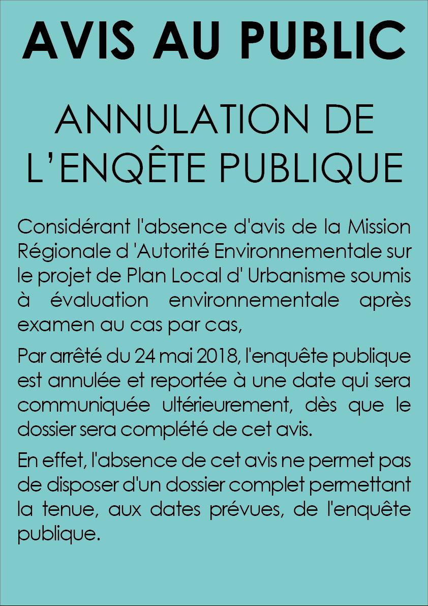 Avis Au Public Annulation De L Enquete Publique Ville De Fronton