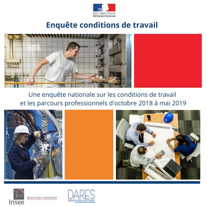 Enquête statistique sur lesconditions de travail et les parcours professionnels