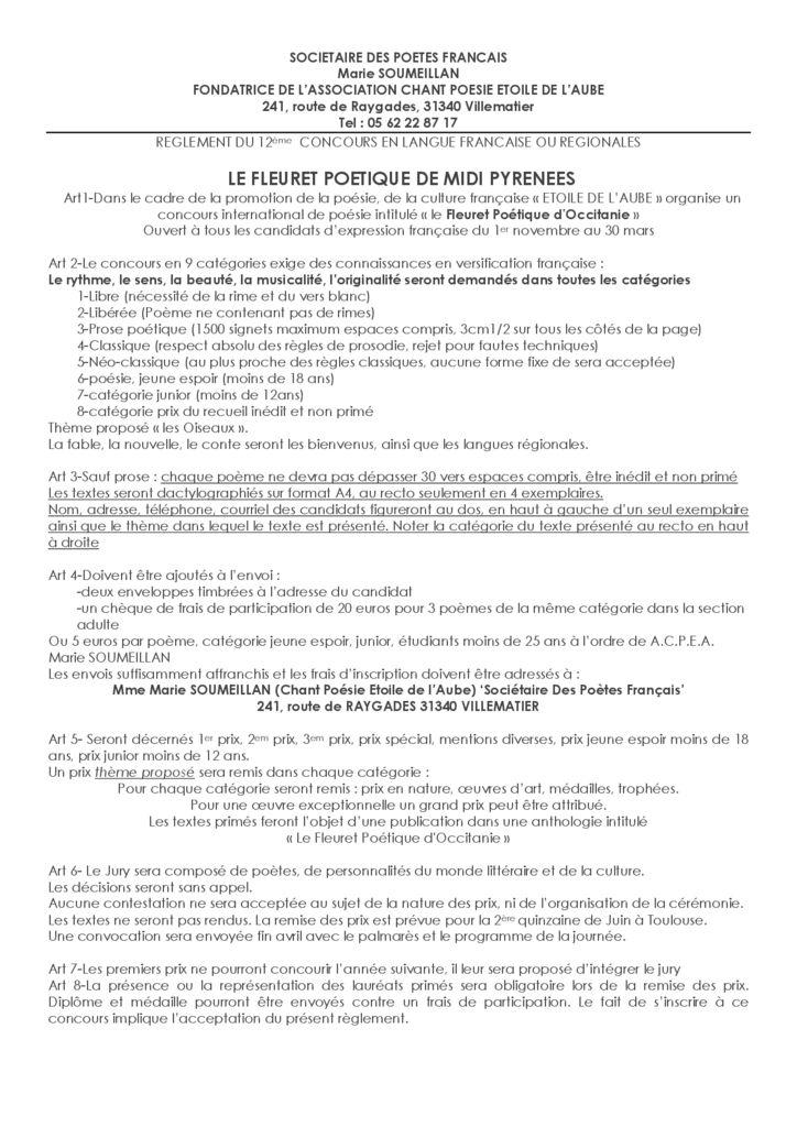 thumbnail of Concours Fleuret poétique d'Occitanie règlement