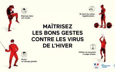 Maîtrisez les bons gestes contre les virus de l'hiver