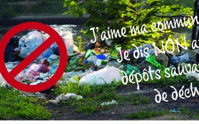 J'aime ma commune ! Je dis NON aux dépôts sauvages de déchets !