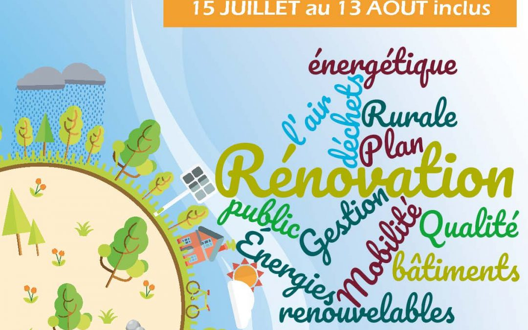 Consultation publique : le Plan Climat Air Energie Territorial