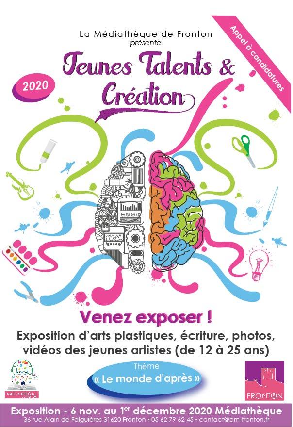 Appel à candidatures : Jeunes Talents & Création 2020