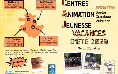Vacances d'été au Centre d'Animation Jeunesse