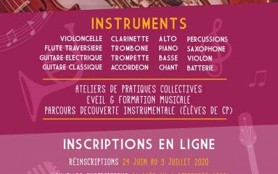 Inscriptions à l'école intercommunale de musique