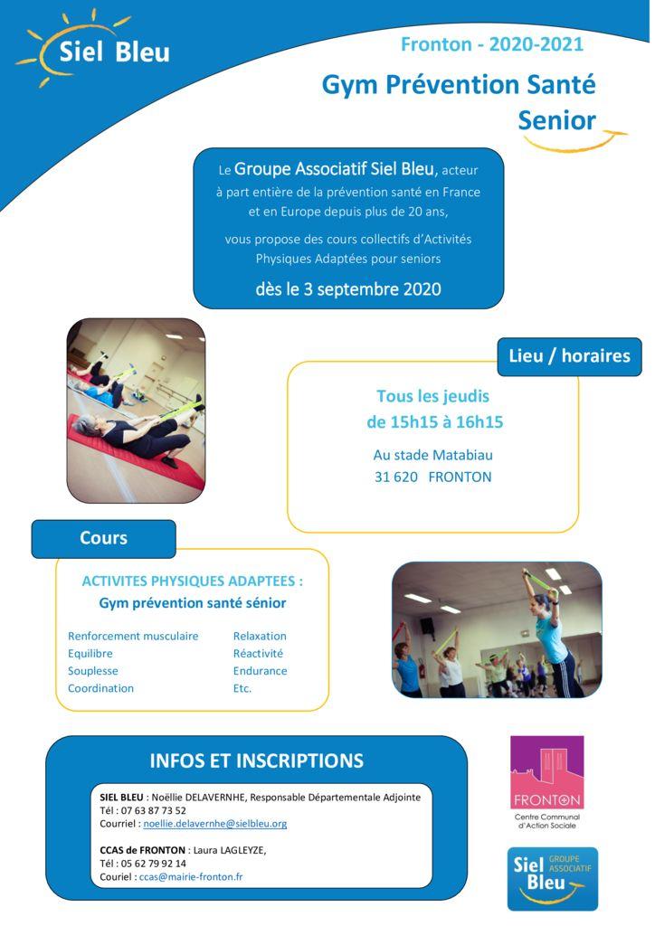 thumbnail of Affiche Siel Bleu – A3 personnalisable FRONTON sept oct 2020