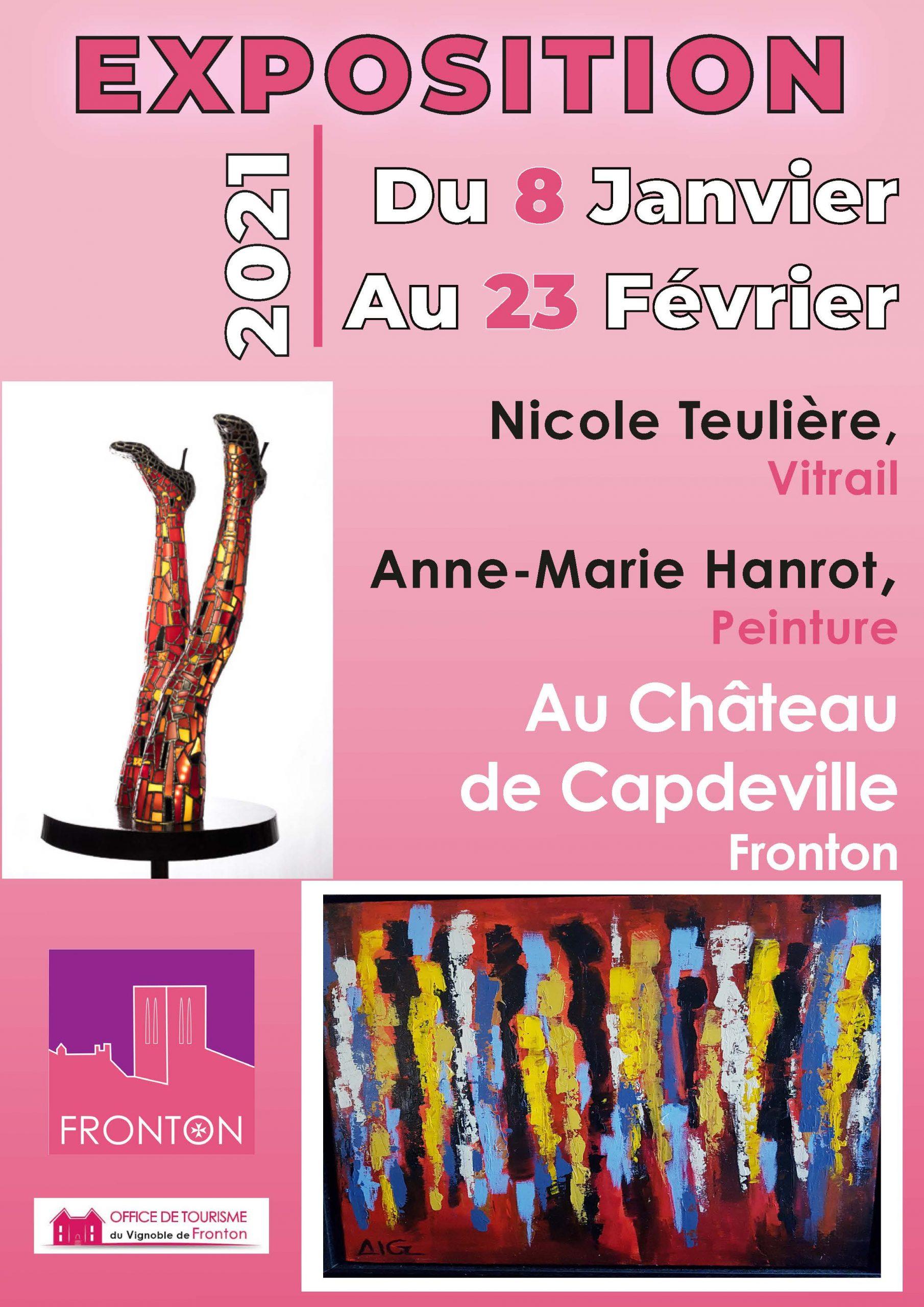 EXPOSITION CHATEAU DE CAPDEVILLE : Nicole TEULIERE & Anne-Marie HANROT