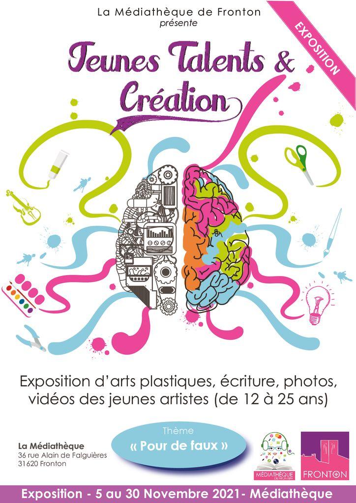 thumbnail of Affiche Jeunes Talents et Création_2021 Expo